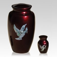 Dove and Olive Branch Cremation Urns