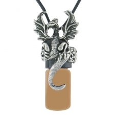 Dragon Brown Pet Cremation Necklace Urn
