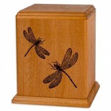 Dragonflies Wood Cremation Urn