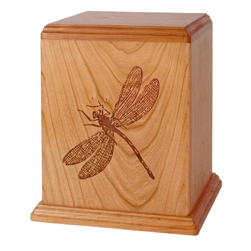 Dragonfly Wood Cremation Urn