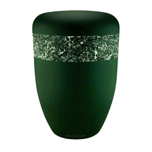Dreamers Green Silver Biodegradable Urn