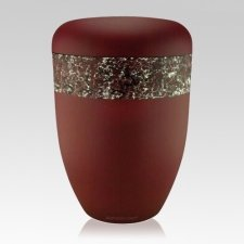 Dreamers Red Silver Biodegradable Urn