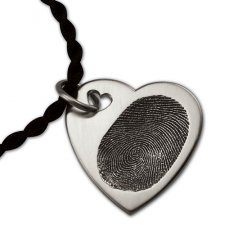 Dual Heart Silver Print Keepsake