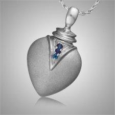 Duchess Teardrop Sapphire Cremation Pendant