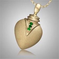 Duchess Teardrop Emerald Cremation Pendant II