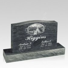 Ducks Companion Granite Headstone