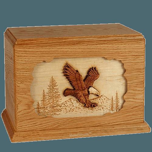 Eagle Mahogany Companion Urn