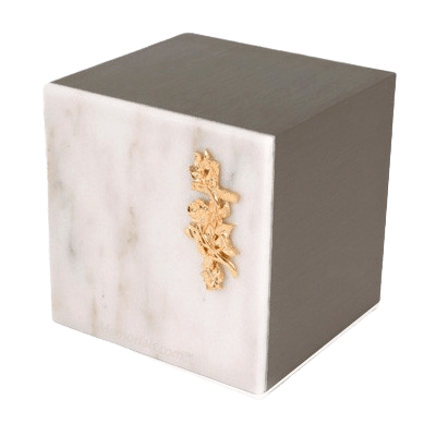 Expressionism White Danby Marble Cremation Urn