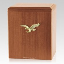 Eagle Ascent Light Cherry Cremation Urn