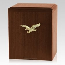 Eagle Ascent Walnut Cremation Urn