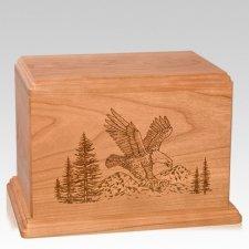 Eagle Companion Cherry Wood Urn