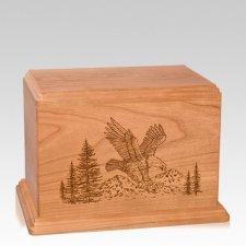 Eagle Individual Cherry Wood Urn