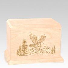 Eagle Individual Maple Wood Urn