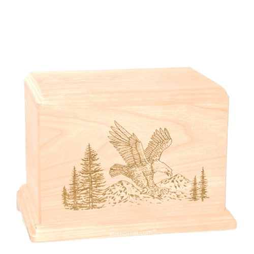 Eagle Individual Maple Wood Urn