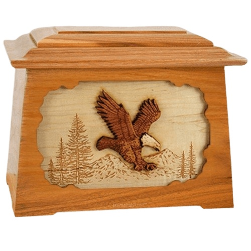 Eagle Mahogany Aristocrat Cremation Urn