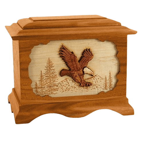 Eagle Mahogany Cremation Urn
