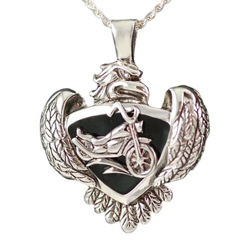Eagle with Motorcycle Keepsake Jewelry