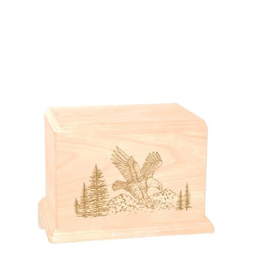 Eagle Small Maple Wood Urn