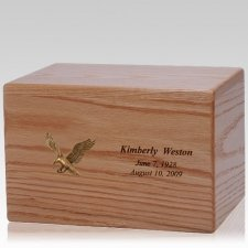Eagle Wood Cremation Urn