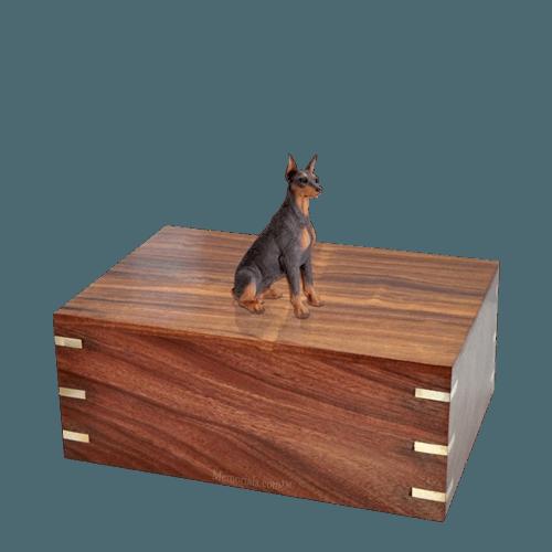 Ears Up Doberman Medium Doggy Urn