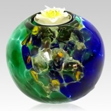 Earth Candle Glass Pet Urn