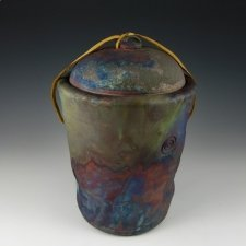 Earth Flame Raku Cremation Urn