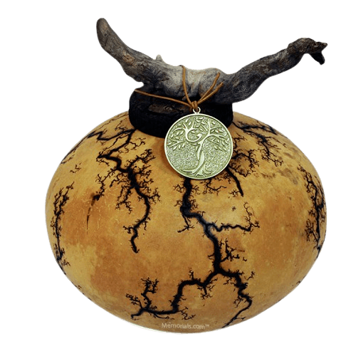 Earthen Gourd Biodegradable Urn