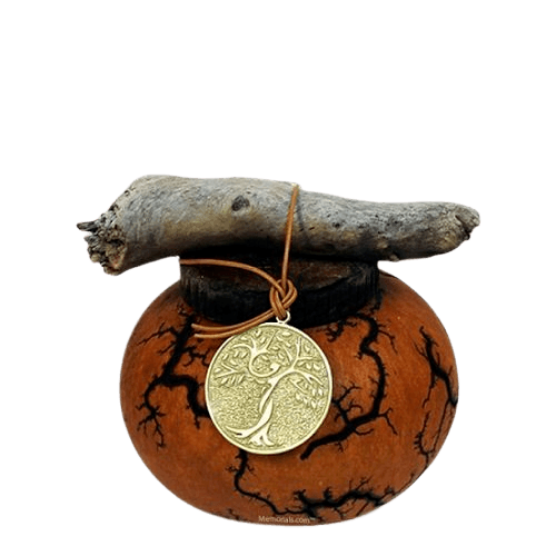Earthen Gourd Small Biodegradable Urn