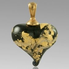 Ebony & Gold Cremation Ash Pendant