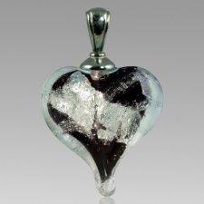 Ebony & Silver Cremation Ash Pendant