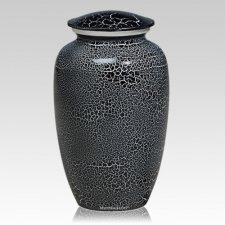 Ebony Crackle Metal Cremation Urns