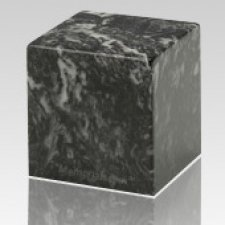 Ebony Cube Keepsake Cremation Urn