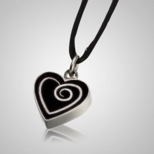 Ebony Heart Keepsake Pendant
