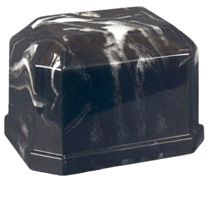 Eden Ink Black Marble Cremation Urn