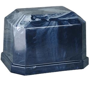 Eden Navy Marble Cremation Urn