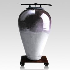 Raku Tall Purple Cremation Urns