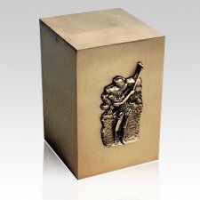 Eighteen Holes Bronze Cremation Urn