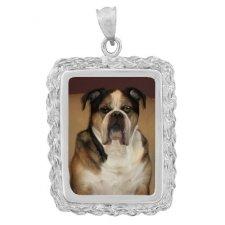 Elegance Silver Photo Pendant