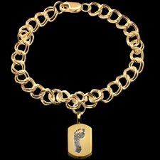 Elegant 14k Yellow Gold Cremation Print Bracelet