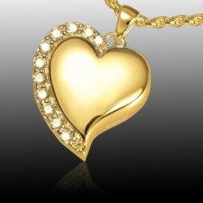 Elegant Heart Cremation Pendant IV