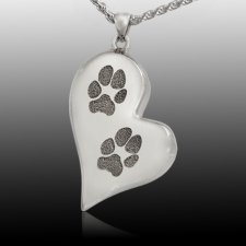 Elegant Heart Paw Print Cremation Keepsakes
