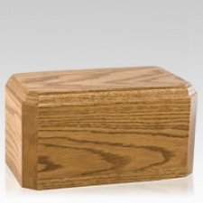 Elegant Oak Wood Cremation Urn