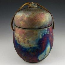 Elegant Raku Cremation Urn