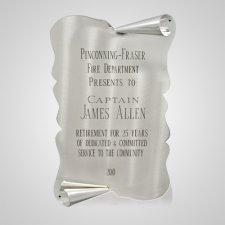 Elegant Silver Urn Plaque