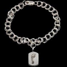 Elegant Sterling Cremation Print Bracelet