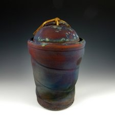 Element Spiral Raku Cremation Urn