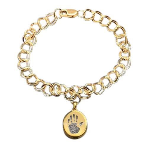 Elite 14k Gold Cremation Print Bracelet