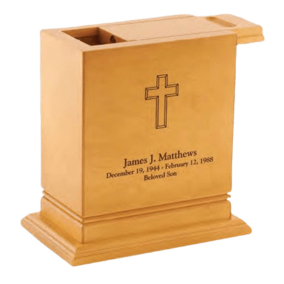 Elite Scattering Wood Cremation Urn