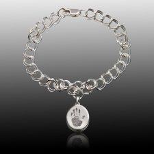 Elite Sterling Cremation Print Bracelet