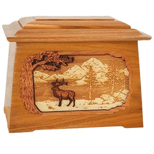 Elk Mahogany Aristocrat Cremation Urn